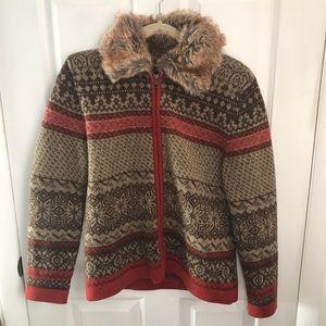 Cambridge Dry Goods Zip Up Sweater Wool